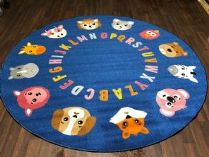 133X133CM ABC CIRCLES RUGS/MATS HOME/SCHOOLS EDUCATIONAL NON SILP BEST SELLERS